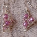Örhängen silver/rosa