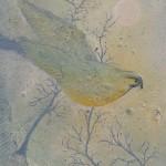 Fågel i rimfrost 2014